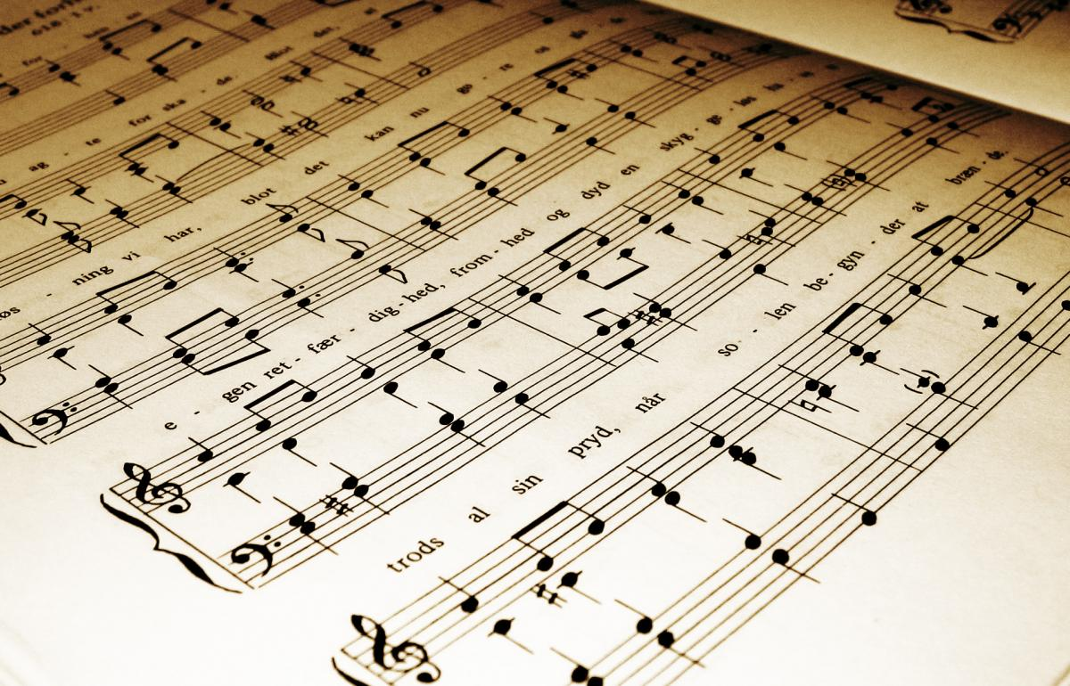 Sheet music detail